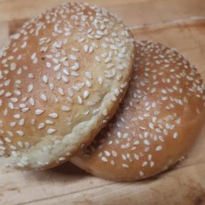 buy sesam topped brioche hamburger bun