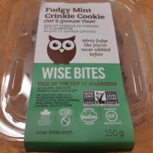 Fudgy Mint Crinkle Cookies